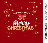 vector red christmas background ... | Shutterstock .eps vector #1712543950