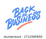 back to business. vector... | Shutterstock .eps vector #1712589850