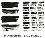 flat paint brush thin lines  ... | Shutterstock .eps vector #1712592619