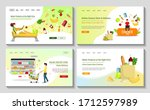 set of web pages for grocery... | Shutterstock .eps vector #1712597989