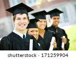 graduation  row of proud...   Shutterstock . vector #171259904