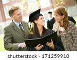 graduation  parents looks at... | Shutterstock . vector #171259910