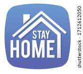 stay home social distancing...   Shutterstock .eps vector #1712612050