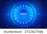 technology background. neon...   Shutterstock .eps vector #1712627566