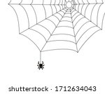 A Simple Spider On A Web In Th...
