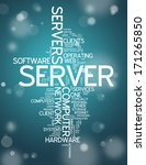 word cloud with server related... | Shutterstock . vector #171265850