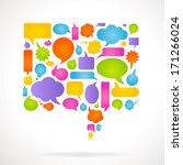 colorful vector comic bubbles... | Shutterstock .eps vector #171266024