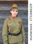 Girl In Soviet Military Unifor...