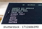 Kitchen Menu Sign Board From...