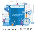 online dictionary  vector... | Shutterstock .eps vector #1712692750