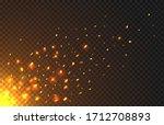 fire sparks of metal welding... | Shutterstock .eps vector #1712708893