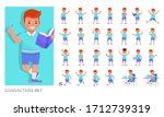 set of kid character vector... | Shutterstock .eps vector #1712739319