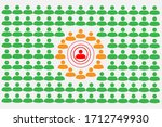 crowd with people silhouette... | Shutterstock .eps vector #1712749930