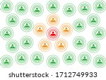 crowd with people silhouette... | Shutterstock .eps vector #1712749933