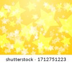 yellow glowing stars abstract... | Shutterstock .eps vector #1712751223