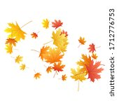 maple leaves vector background  ... | Shutterstock .eps vector #1712776753