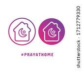 pray at home concept logo ... | Shutterstock .eps vector #1712779330