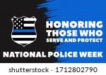 national police week.... | Shutterstock .eps vector #1712802790