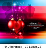 valentine's day template with... | Shutterstock . vector #171280628
