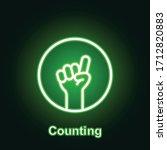 ramadan counting outline neon...