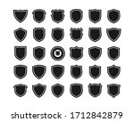 collection of shield icon... | Shutterstock .eps vector #1712842879