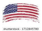 united states of america flag... | Shutterstock .eps vector #1712845780