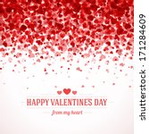 happy valentine's day card... | Shutterstock .eps vector #171284609