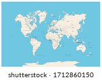world map with names of all... | Shutterstock .eps vector #1712860150