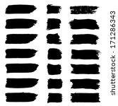 vector set of grunge brush...   Shutterstock .eps vector #171286343