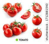 Tomatoes On White Background....
