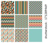 seamless geometric hipster... | Shutterstock .eps vector #171289469