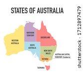 australia map  new political... | Shutterstock .eps vector #1712897479