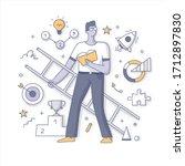 personal development and career ... | Shutterstock .eps vector #1712897830