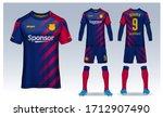 t shirt sport design template ... | Shutterstock .eps vector #1712907490