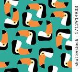 Seamless Pattern. Toucan . ...