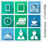 business flat icons set 1  ...