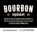 vintage styled alphabet design... | Shutterstock .eps vector #1712930980