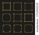 art deco frames and borders... | Shutterstock .eps vector #1712932210