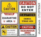 Caution. Safety Blank Labels...