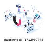 inbound marketing concept... | Shutterstock .eps vector #1712997793