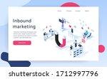 inbound marketing concept... | Shutterstock .eps vector #1712997796