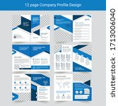 business profile or corporate... | Shutterstock .eps vector #1713006040