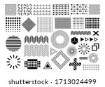 vector memphis  set of abstract ... | Shutterstock .eps vector #1713024499