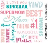 mother's day seamless word... | Shutterstock .eps vector #1713029803
