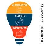 adr   alternative dispute... | Shutterstock .eps vector #1713030463