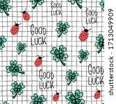 ladybug  clover  good luck...   Shutterstock .eps vector #1713049909