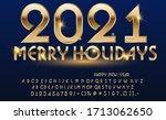 calligraphic golden letters.... | Shutterstock .eps vector #1713062650