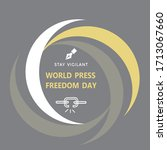 world press freedom day poster... | Shutterstock .eps vector #1713067660
