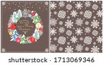 christmas vintage design with... | Shutterstock . vector #1713069346