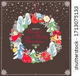 hanging craft decoration for... | Shutterstock . vector #1713075133